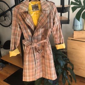 Vintage Aritzia Community Plaid Trench